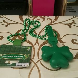 st Patricks day necklace is 15 1/2 inches long